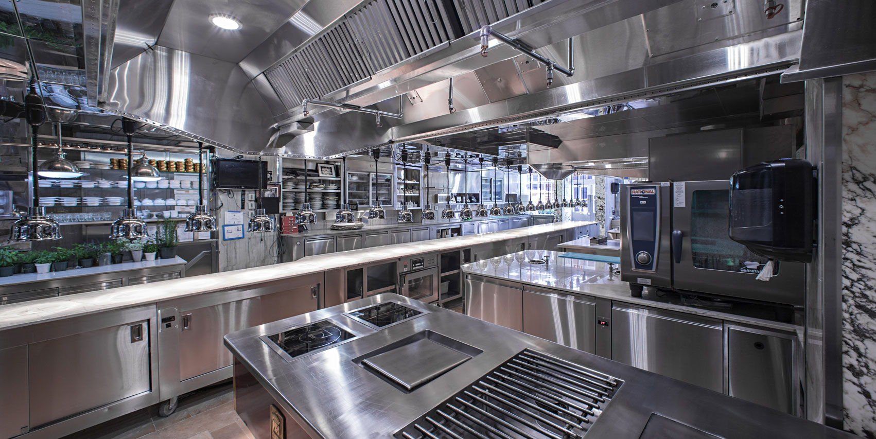 New kitchen design bouley at home for Kitchen design restaurant