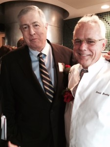 Tim Zagat and David Bouley