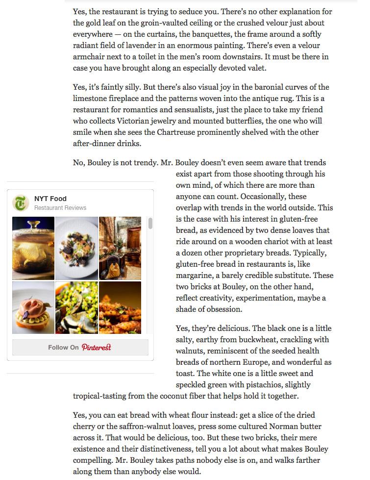 Bouley Test Kitchen Menu