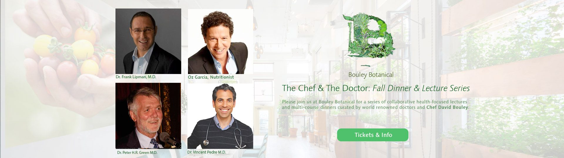 Bouley Botanical Chef and Doctor Fall 2015 Series