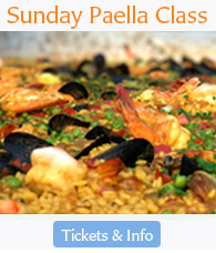 Sunday, Oct. 7th, Paella Family Style Cooking Class Lunch